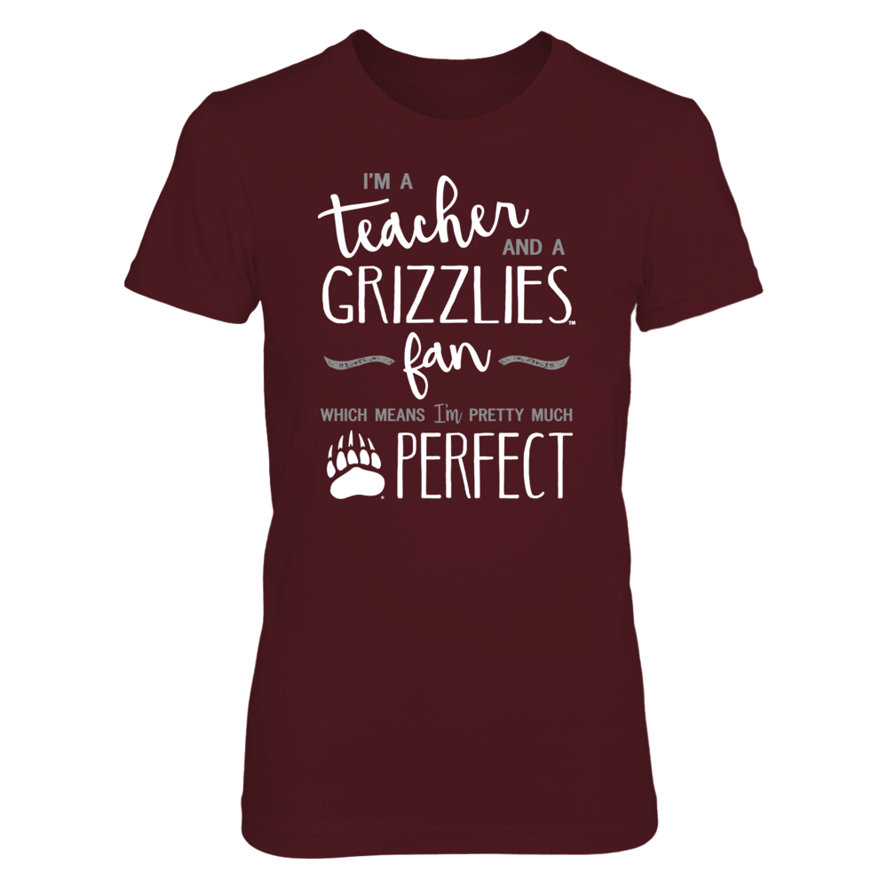 Perfect Teacher Montana Grizzlies Fan T-Shirt   Tank   Hoodie Front picture