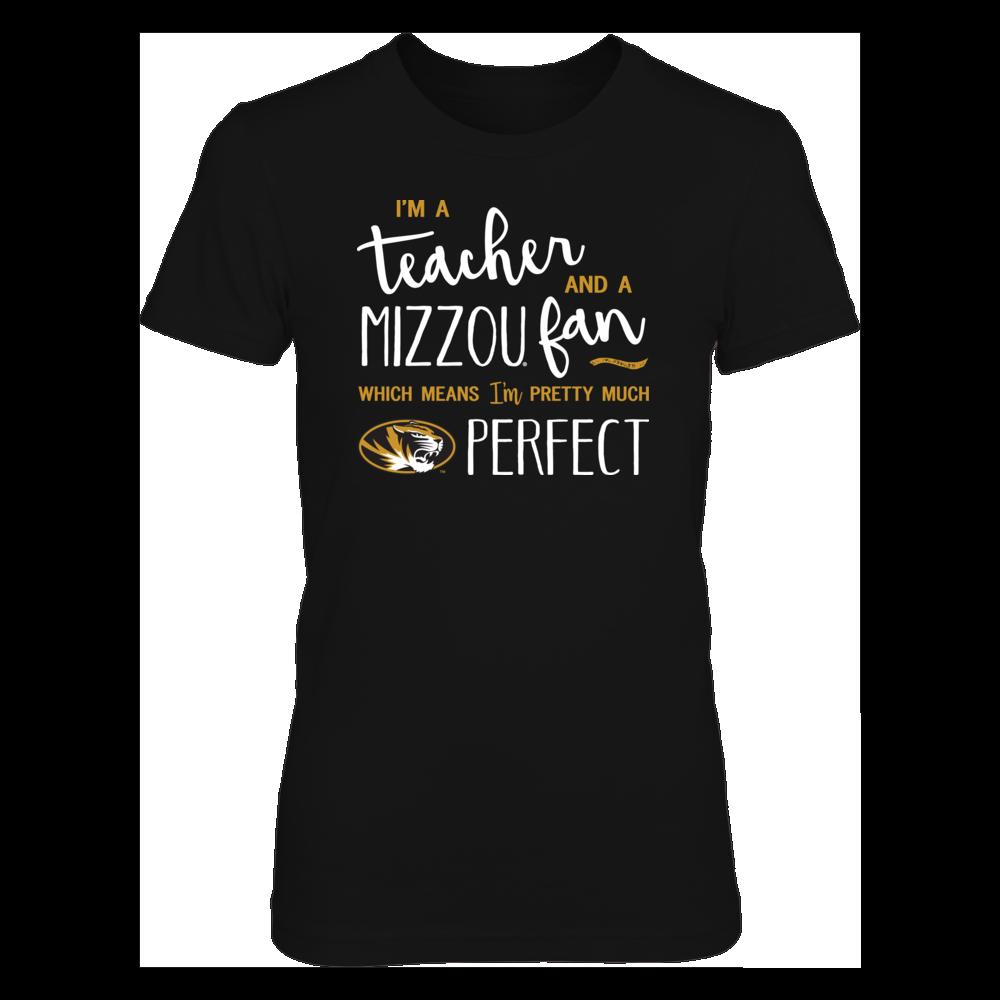 Perfect Teacher Missouri Tigers Fan T-Shirt   Tank   Hoodie Front picture