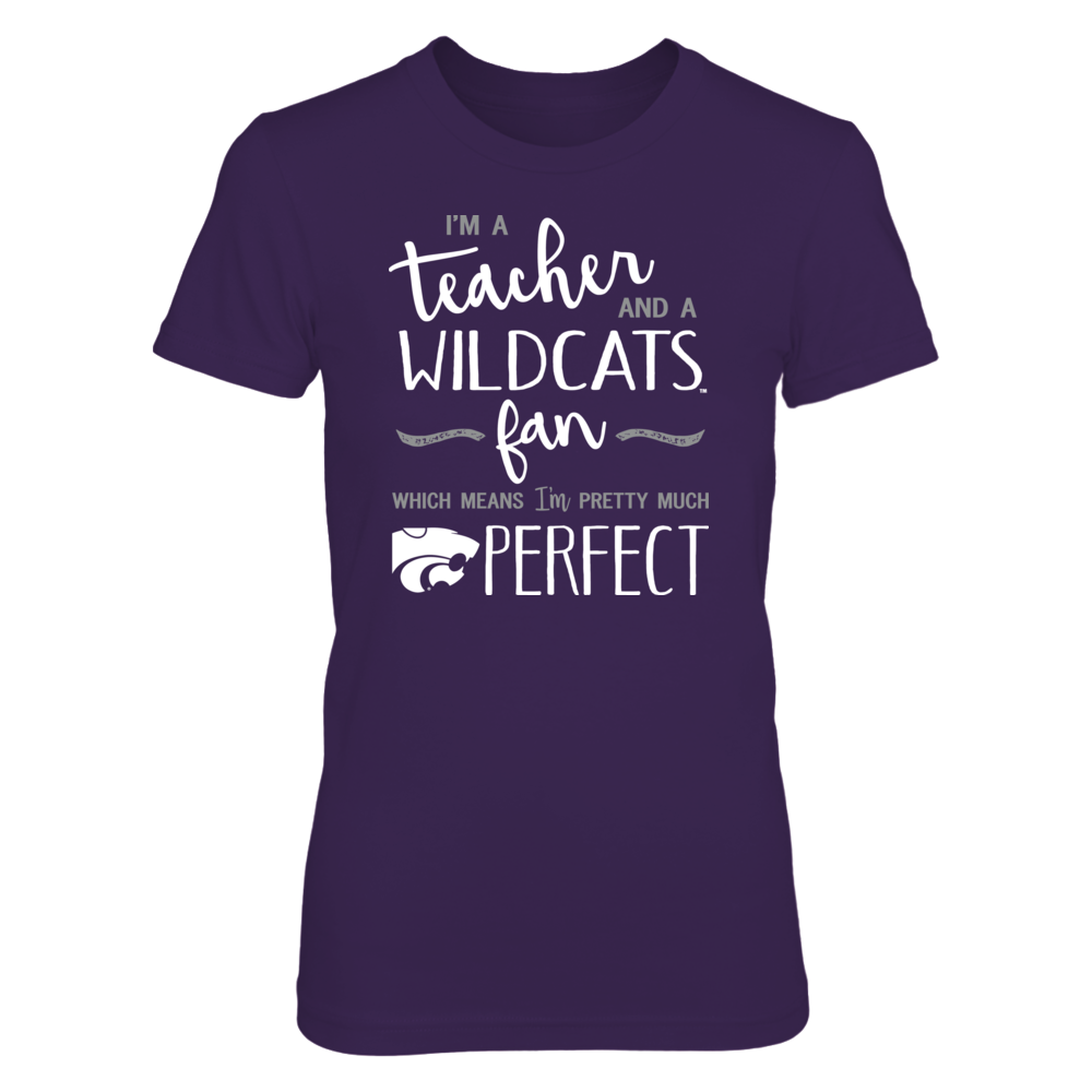 Perfect Teacher Kansas State Wildcats Fan T-Shirt   Tank   Hoodie Front picture