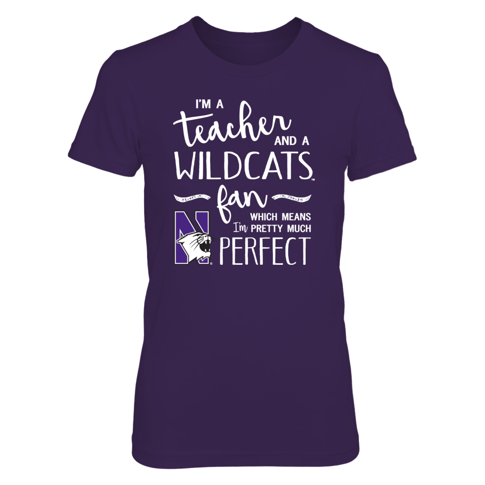 Perfect Teacher Northwestern Wildcats Fan T-Shirt | Tank | Hoodie Front picture