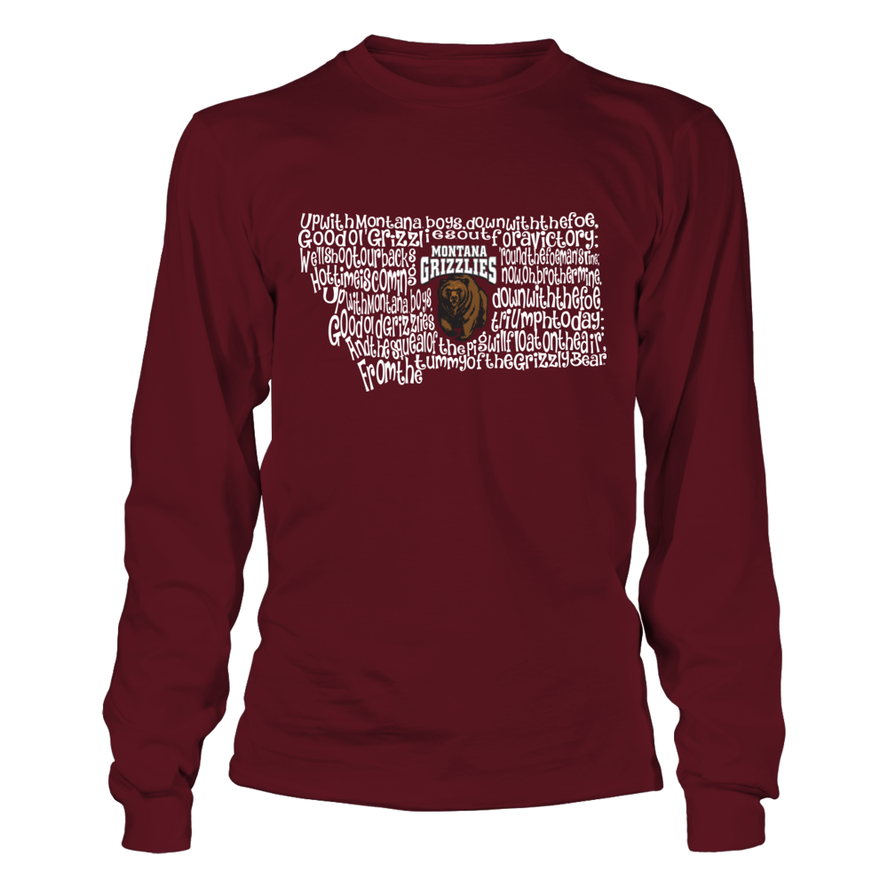 Montana Grizzlies - Fight Song Inside State Map - IF-IC13-DS27 Front picture
