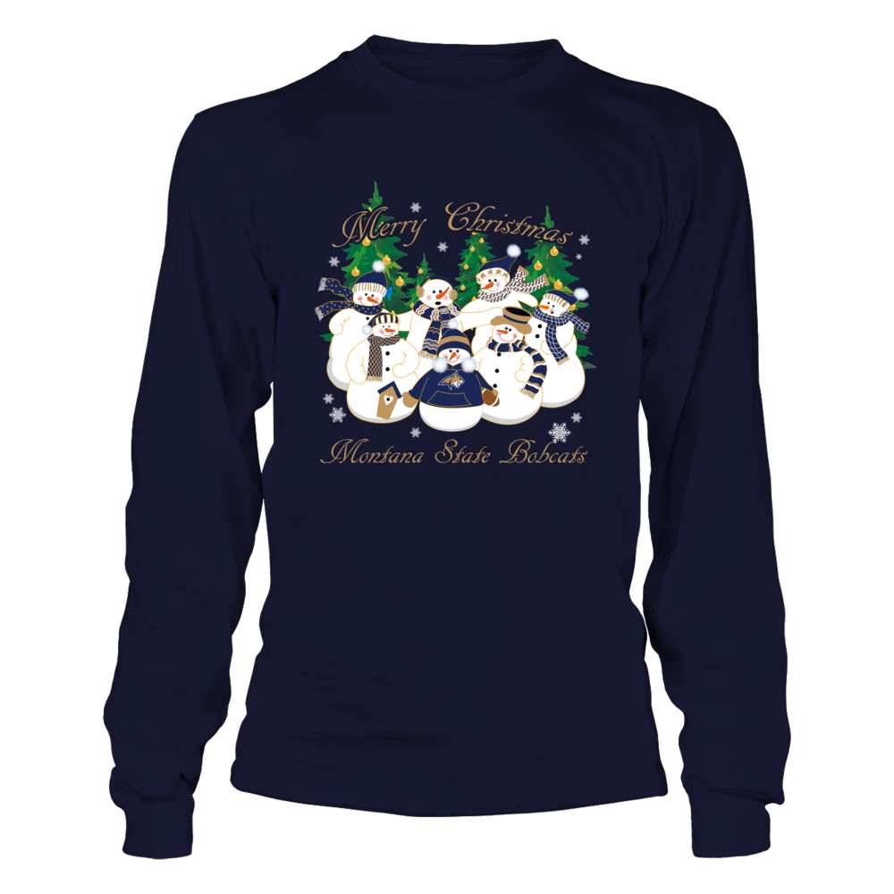 Montana State Bobcats - Merry Christmas Snowman Front picture