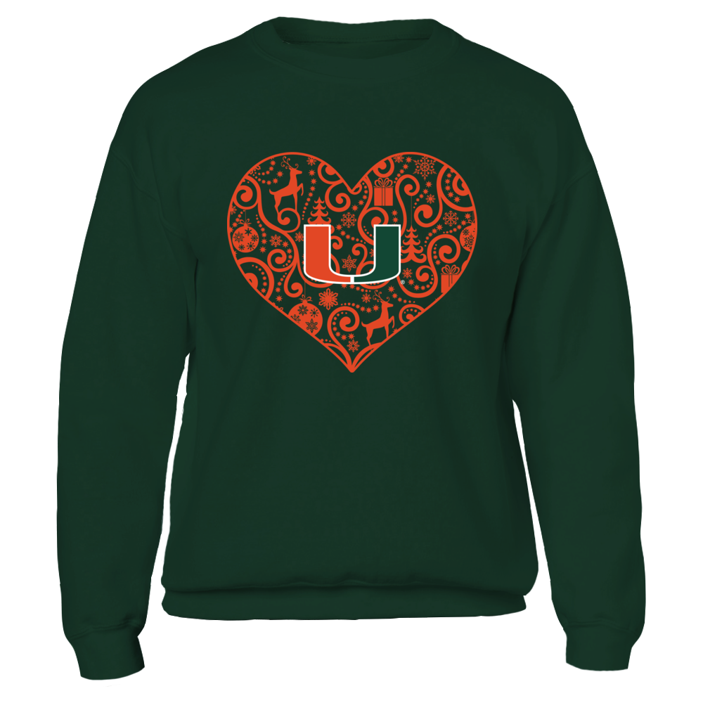 Miami Hurricanes - Lace Heart Christmas Front picture