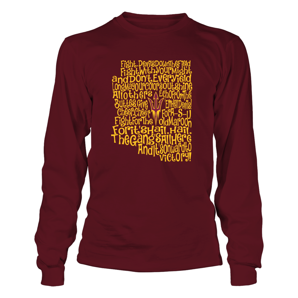 Arizona State Sun Devils - Fight Song Inside State Map - IF-IC13-DS27 Front picture