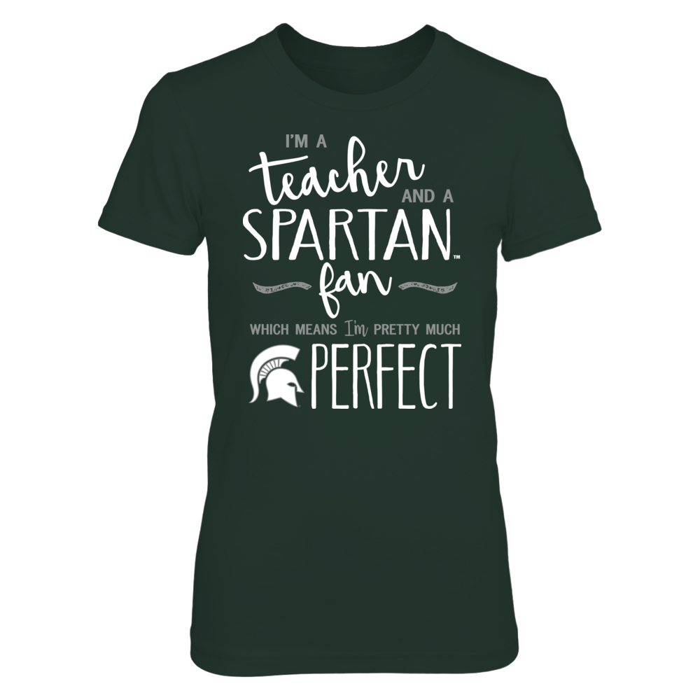 Perfect Teacher Michigan State Spartans Fan T-Shirt | Tank | Hoodie Front picture