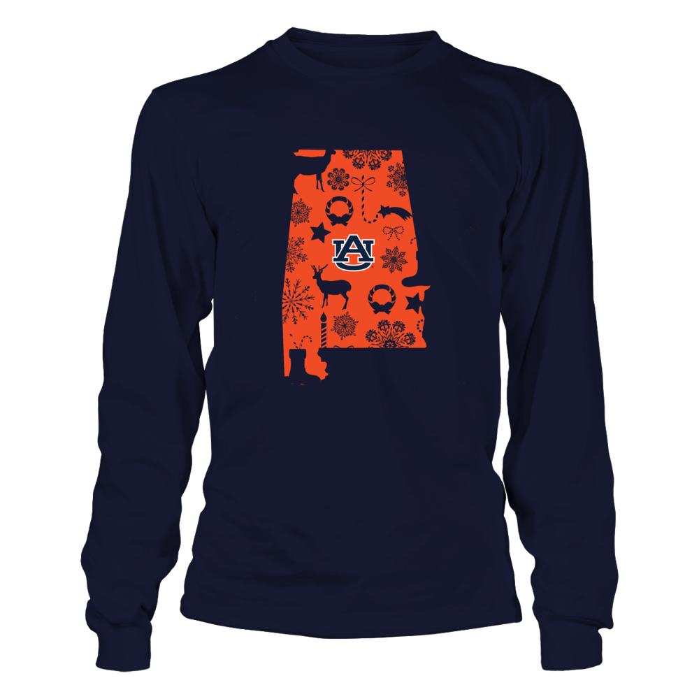 Auburn Tigers - State Map Xmas Pattern Front picture