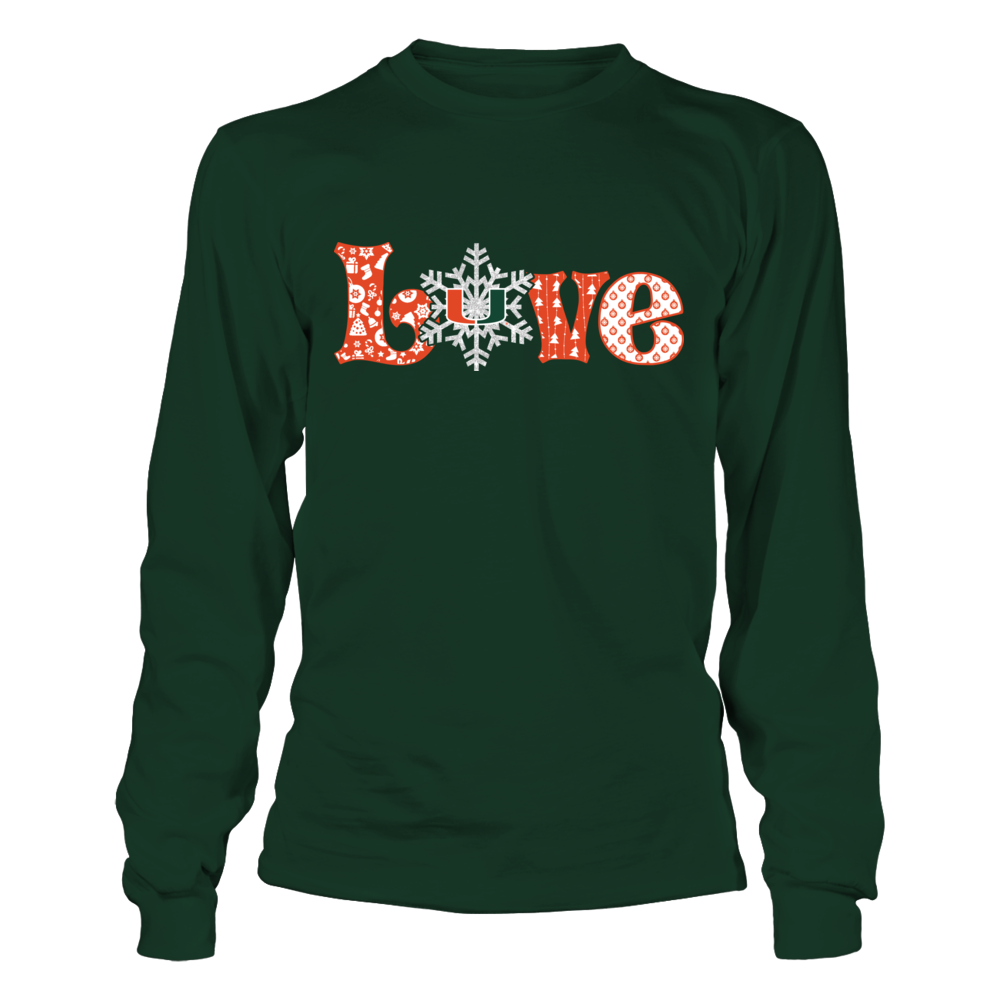 Miami Hurricanes - Love Snowflake Front picture