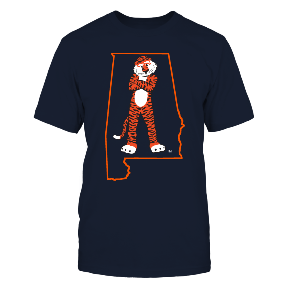 AUBIE IN STATE OUTLINE - AUBURN TIGERS Front picture