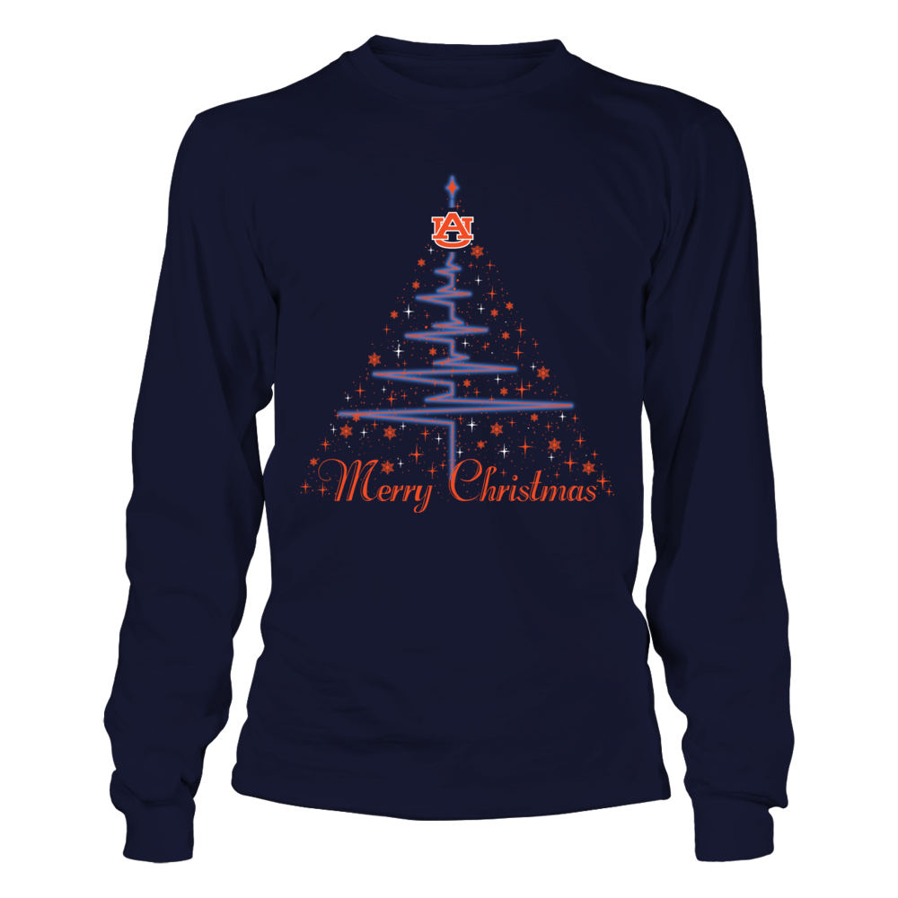 Auburn Tigers - Heartline Xmas Tree Front picture