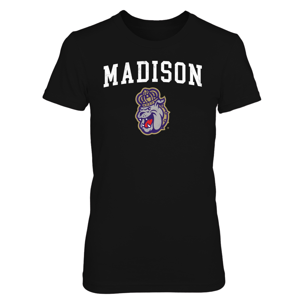 JMU Distressed MADISON Design - Go Dukes! Front picture