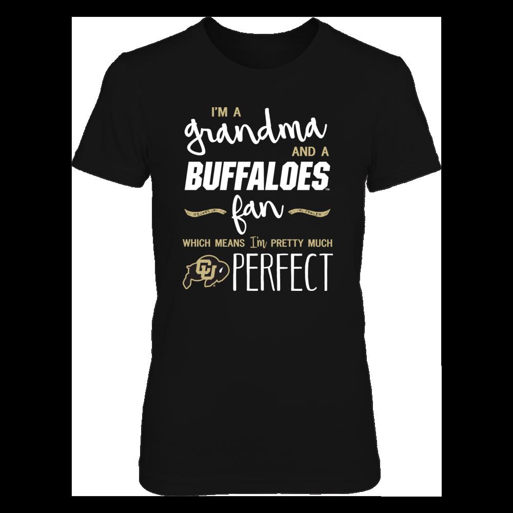 Perfect Grandma Colorado Buffaloes Fan T-Shirt | Tank | Hoodie Front picture