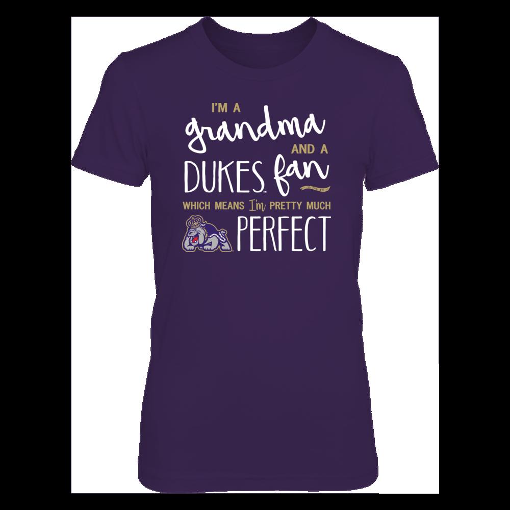 Perfect Grandma JMU Dukes Fan T-Shirt | Tank | Hoodie Front picture