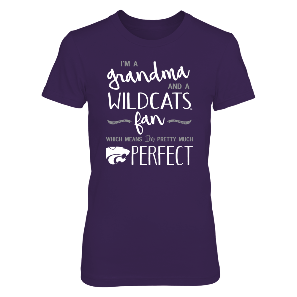 Perfect Grandma Kansas State Wildcats Fan T-Shirt   Tank   Hoodie Front picture