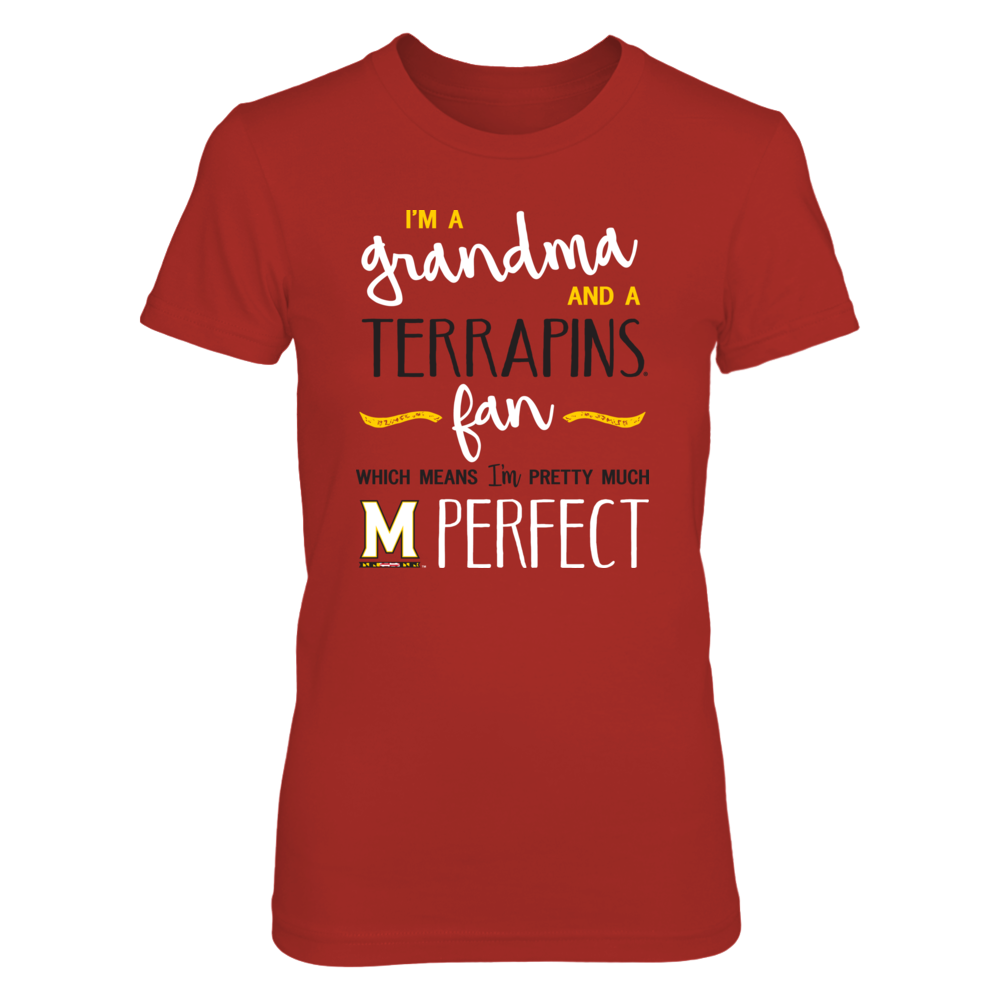 Perfect Grandma Maryland Terrapins Fan T-Shirt | Tank | Hoodie Front picture