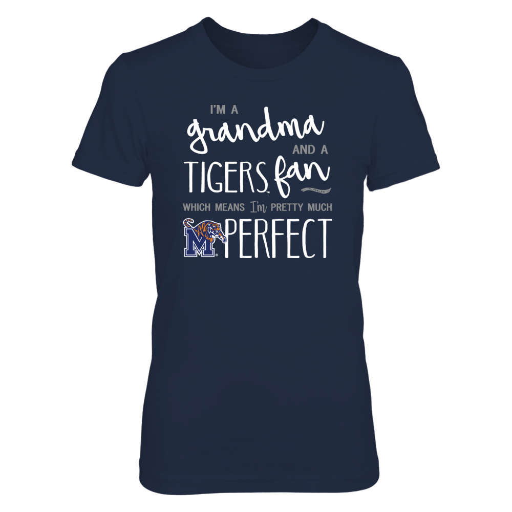 Perfect Grandma Memphis Tigers Fan T-Shirt | Tank | Hoodie Front picture
