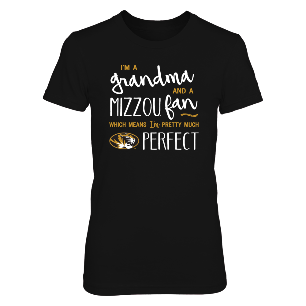 Perfect Grandma Missouri Tigers Fan T-Shirt | Tank | Hoodie Front picture