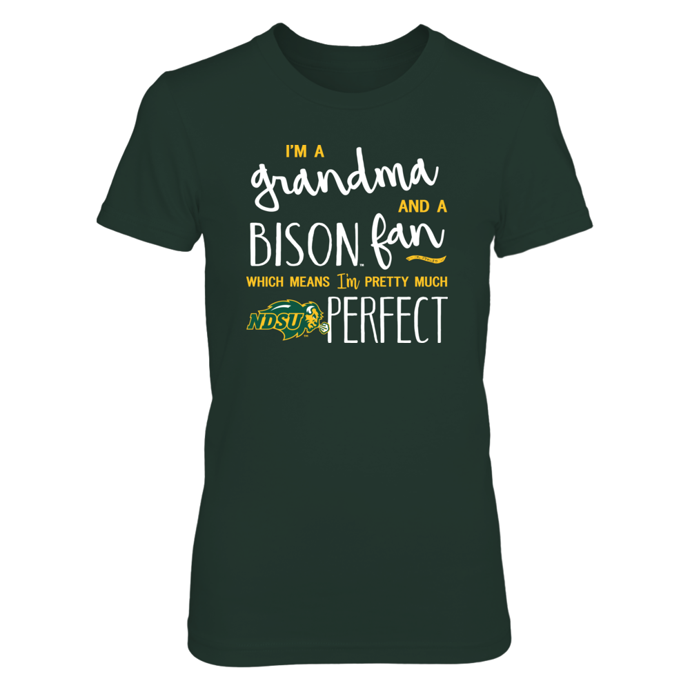 Perfect Grandma North Dakota State Bison Fan T-Shirt | Tank | Hoodie Front picture