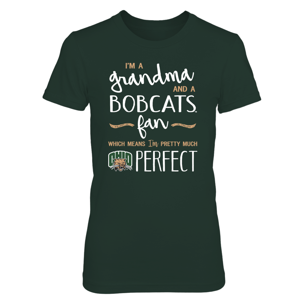Perfect Grandma Ohio Bobcats Fan T-Shirt | Tank | Hoodie Front picture