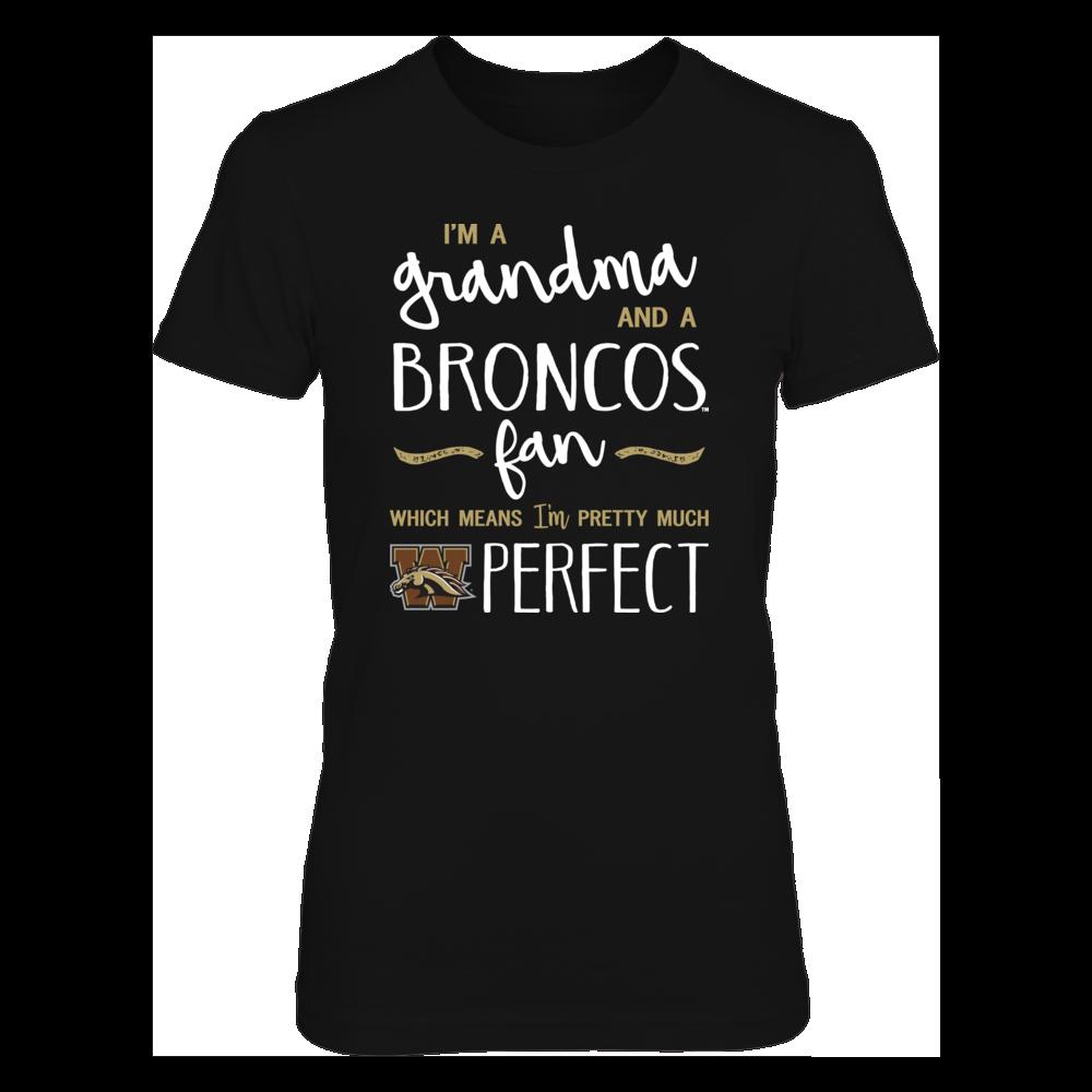 Perfect Grandma Western Michigan Broncos Fan T-Shirt | Tank | Hoodie Front picture