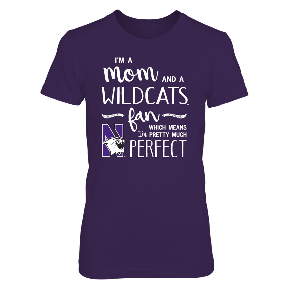 Perfect Mom Northwestern Wildcats Fan T-Shirt | Tank | Hoodie Front picture