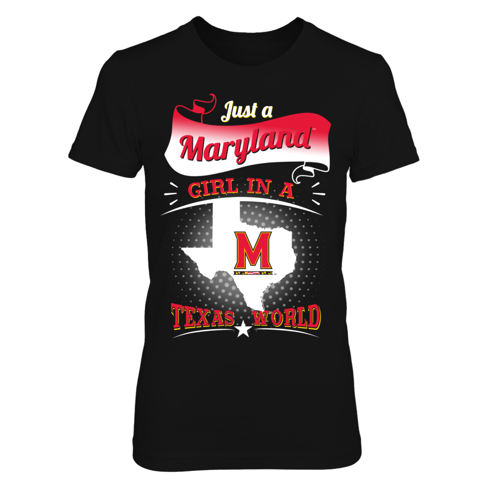 Maryland Terps - Girl In A Texas World Front picture
