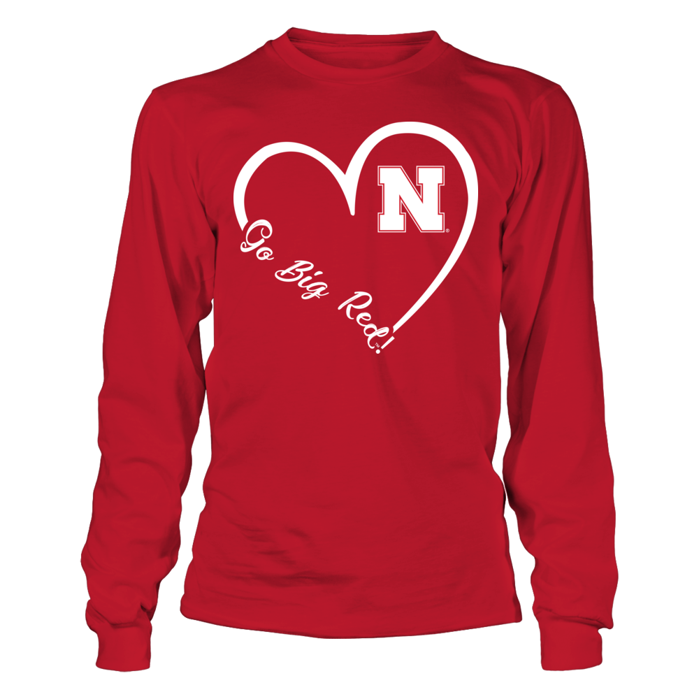 Nebraska Cornhuskers - Heart 3/4  - IF-IC32-DS37 Front picture