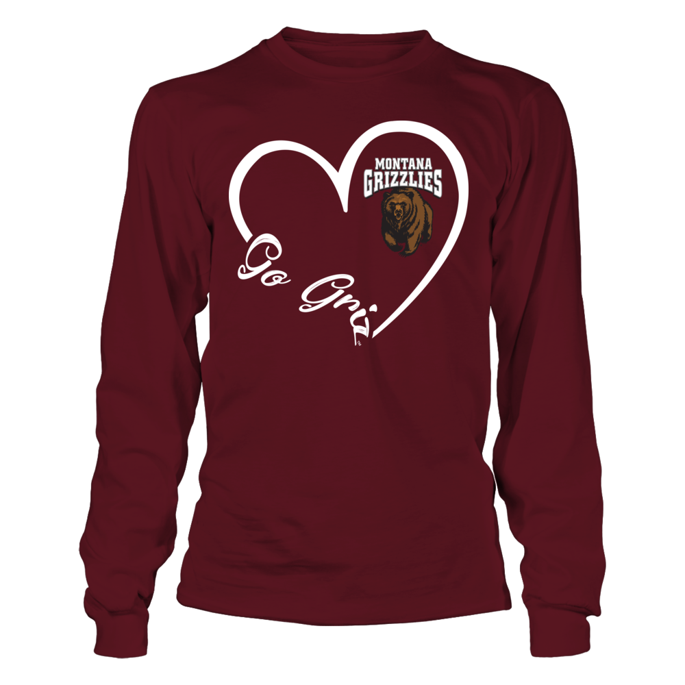 Montana Grizzlies - Heart 3-4  - IF-IC32-DS75 Front picture