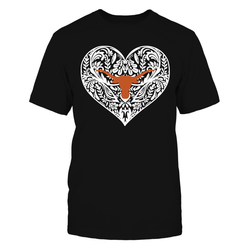 Texas Longhorns - Pattern Heart - Original - IF-IC13-DS37 Front picture