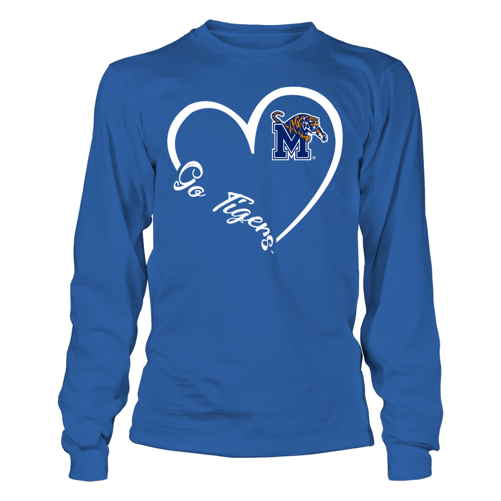 Memphis Tigers - Heart 3-4  - IF-IC32-DS27 Front picture