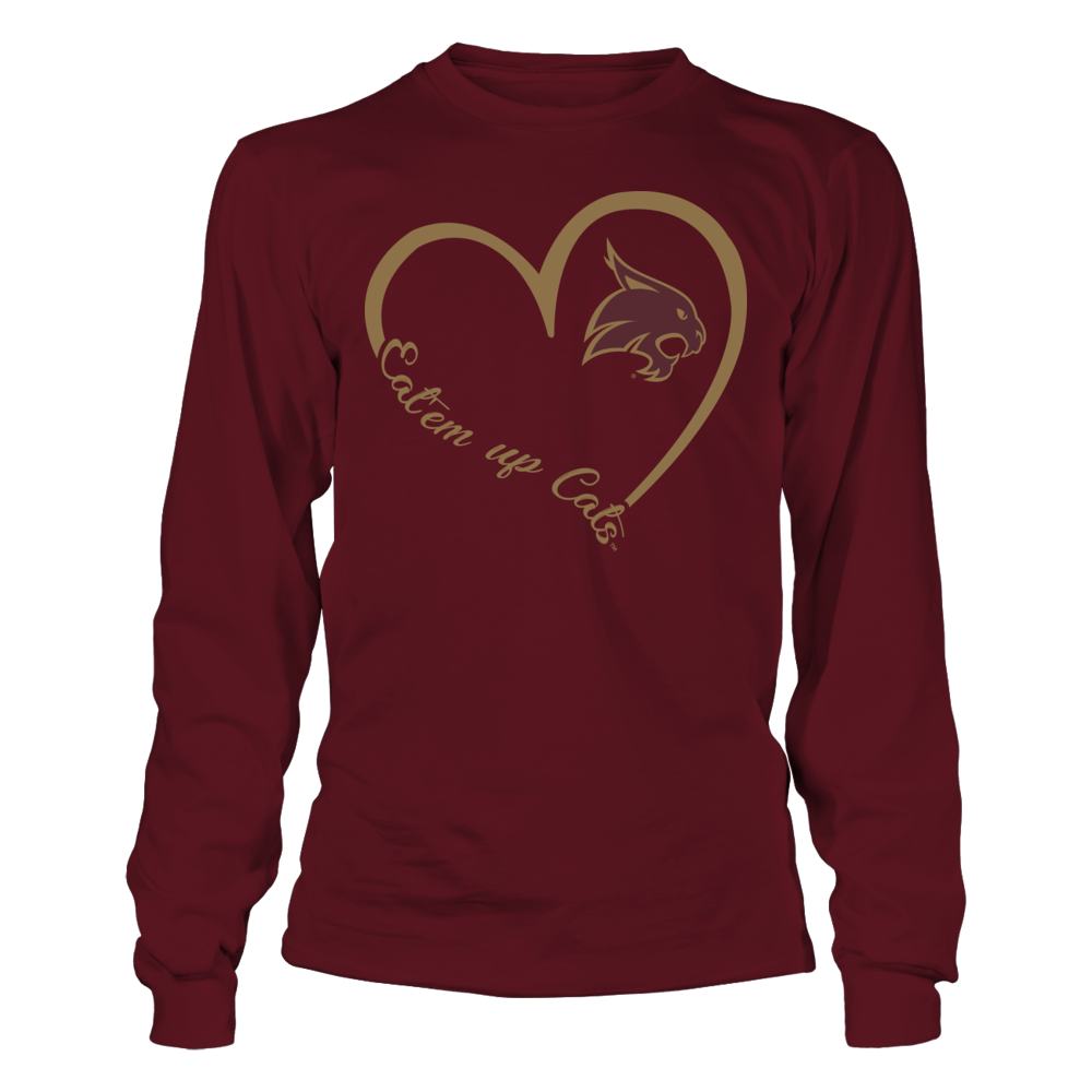 Texas State Bobcats - Heart 3-4  - IF-IC32-DS27 Front picture