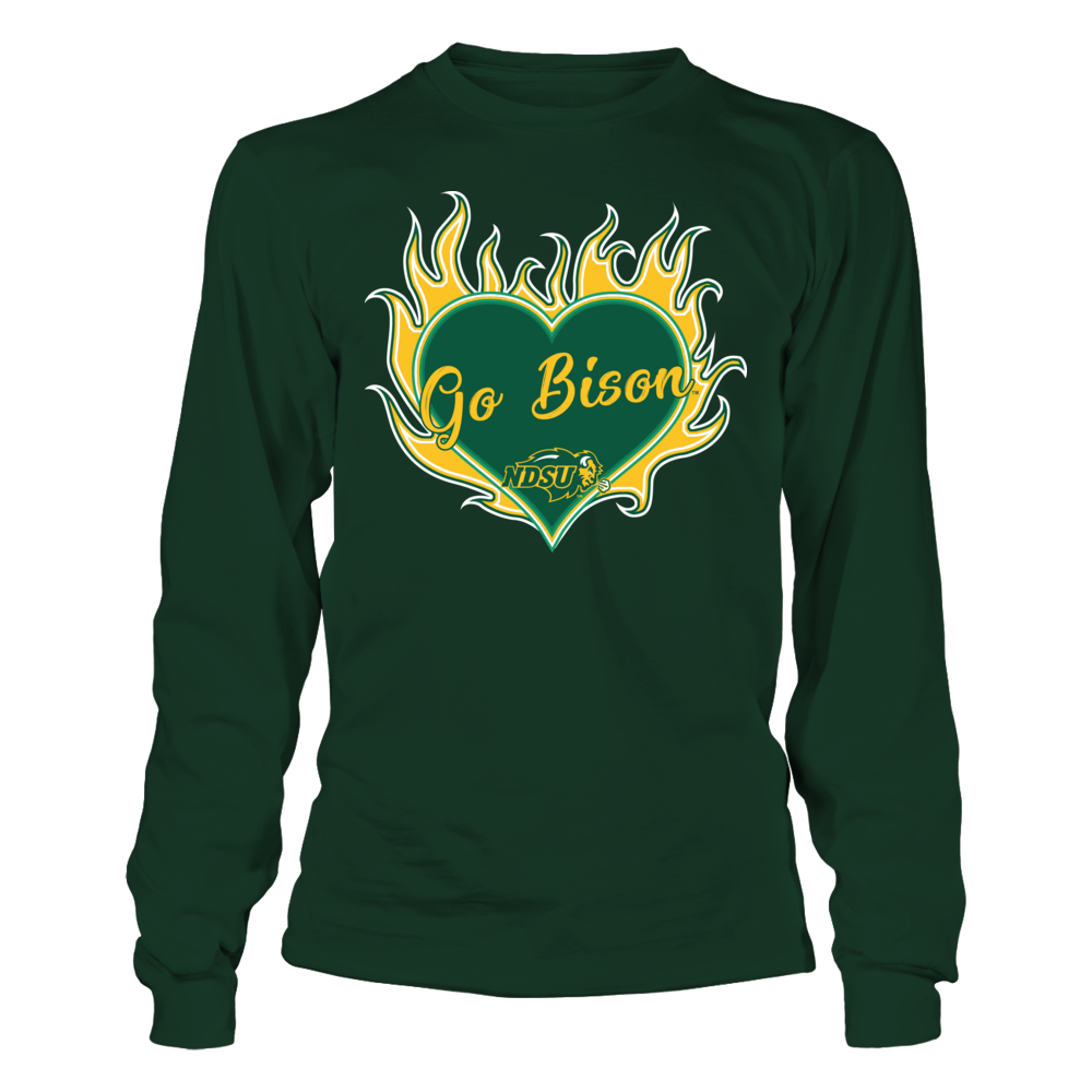 North Dakota State Bison - Heart On Fire Front picture