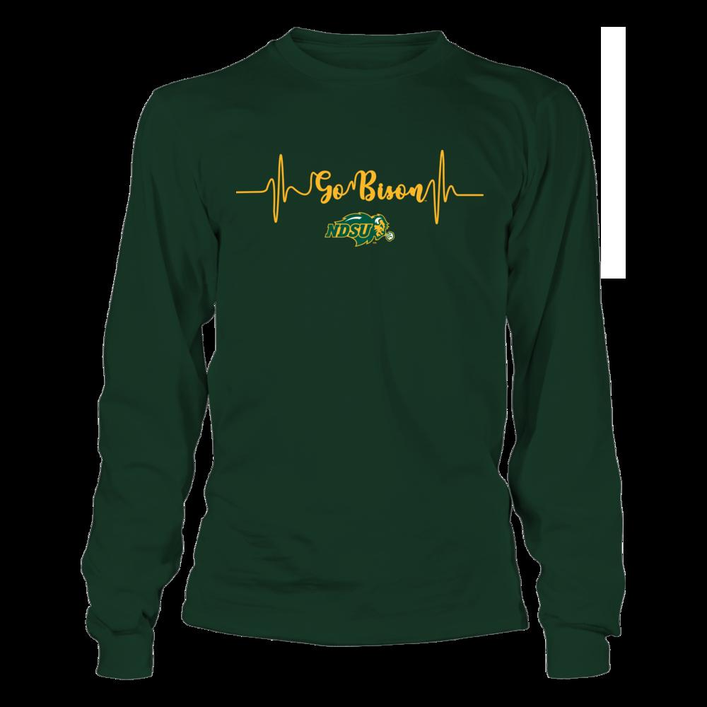 North Dakota State Bison - Slogan Heartbeat Front picture