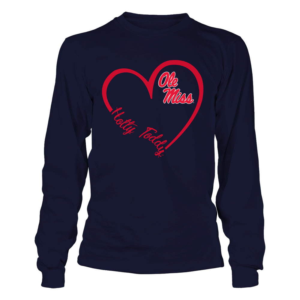 Ole Miss Rebels - Heart 3/4  - IF-IC32-DS37 Front picture