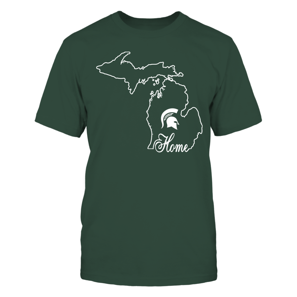 Michigan State Spartans - Home In State Outline Front picture