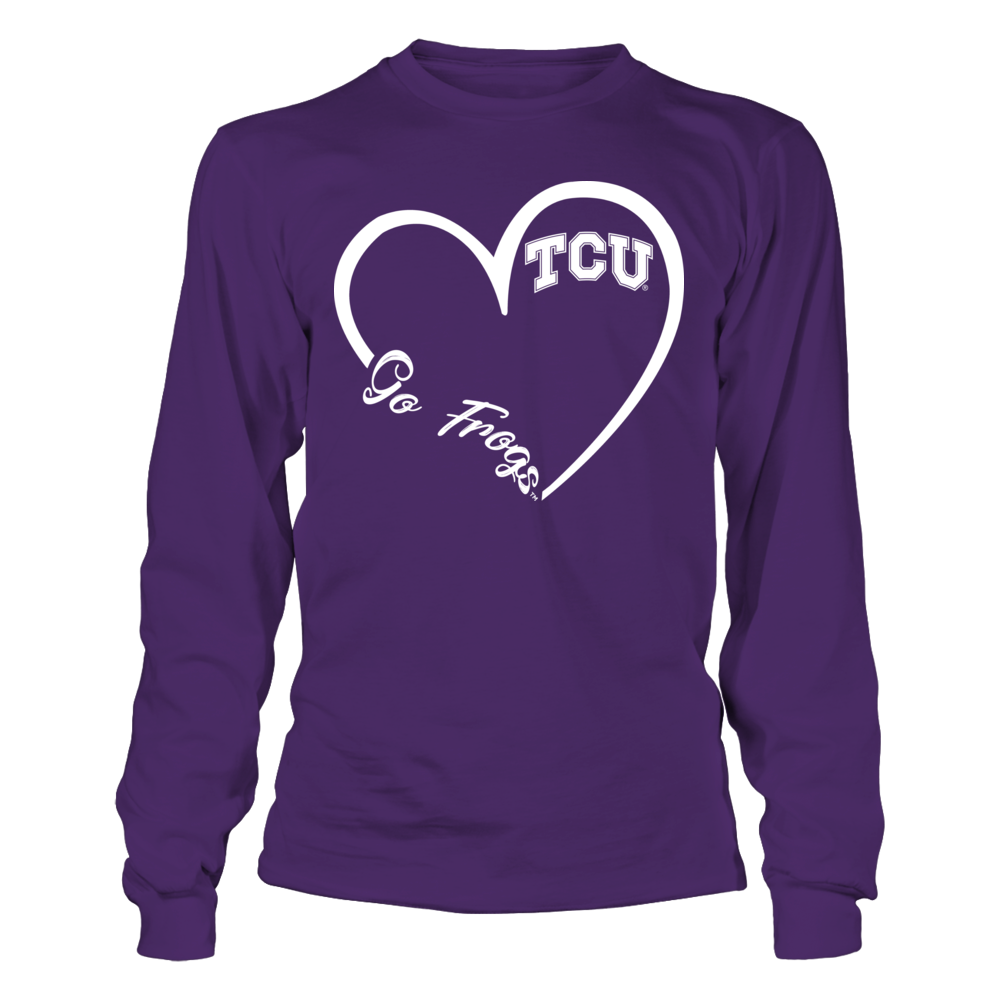 TCU Horned Frogs - Heart 3-4  - IF-IC32-DS45 Front picture