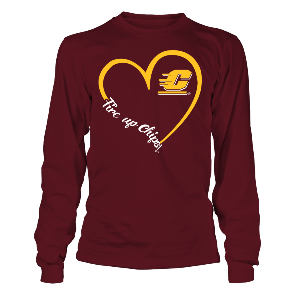Central Michigan Chippewas - Heart 3/4 Front picture