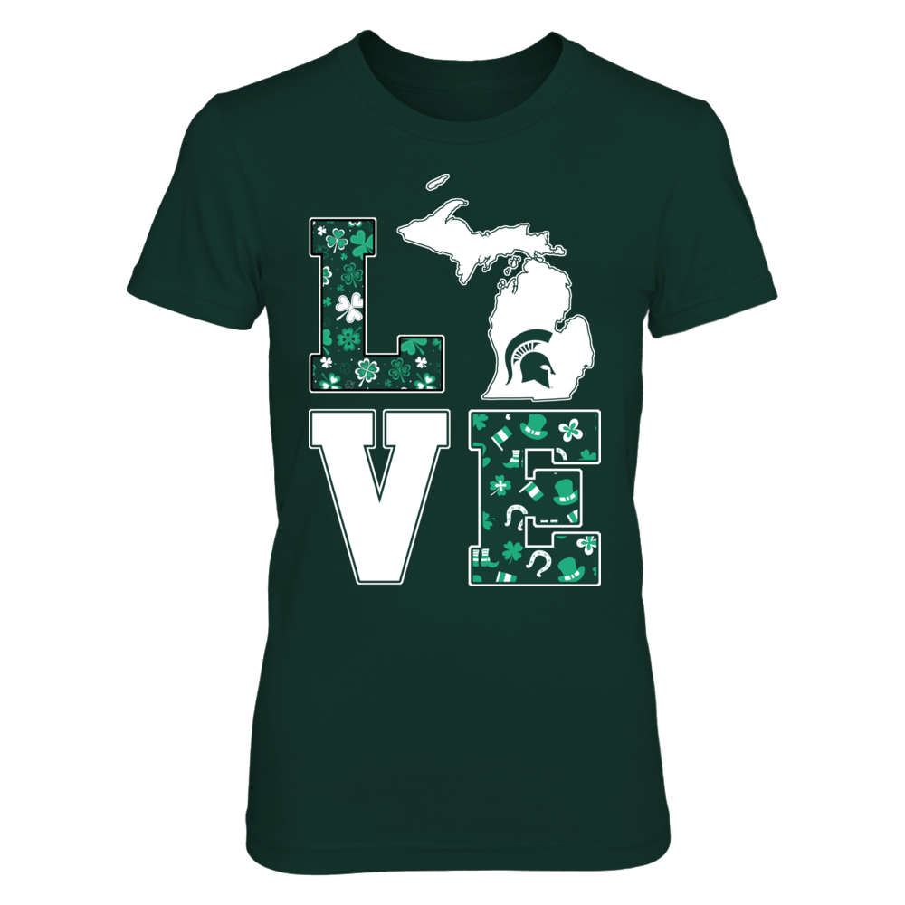 Michigan State Spartans - Love St Patrick Pattern Front picture