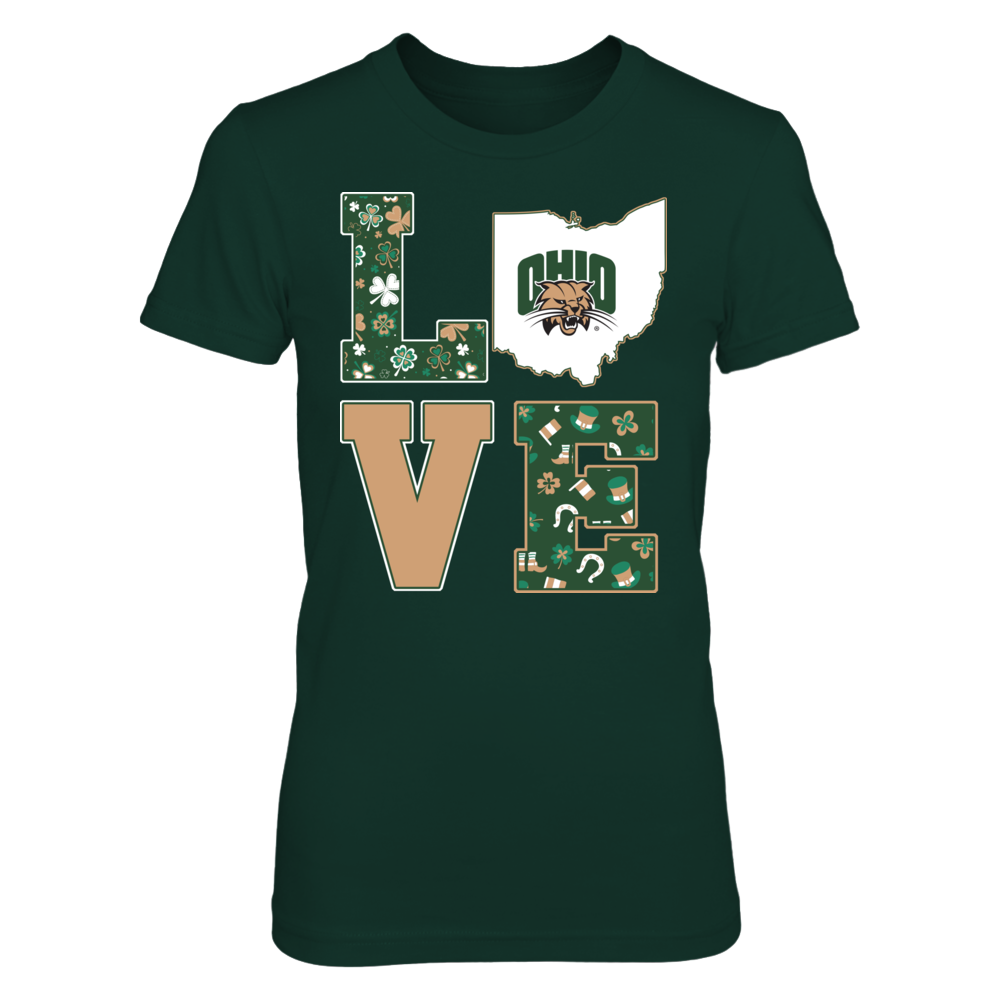 Ohio Bobcats - Love St Patrick Pattern Front picture