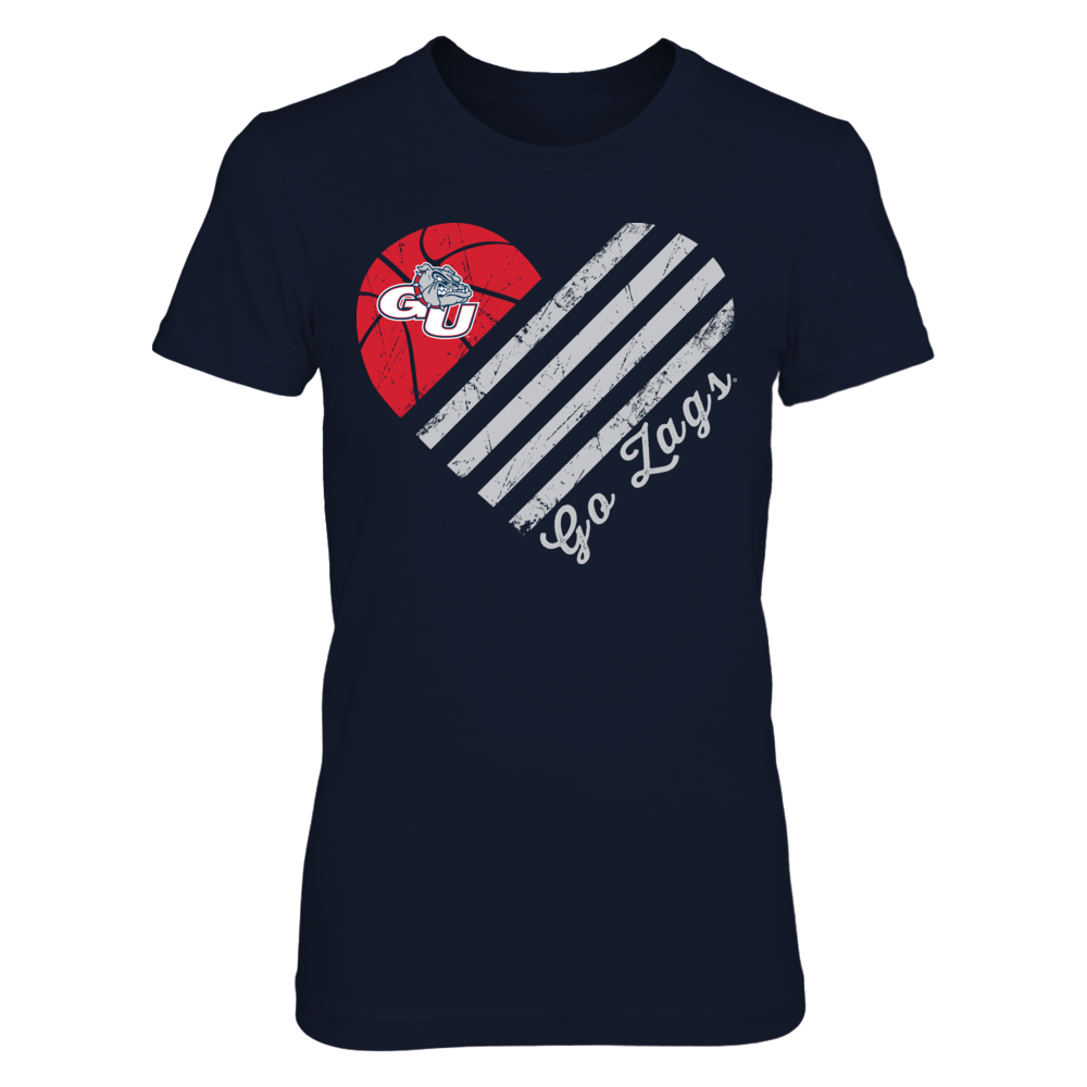 Gonzaga Bulldogs - Basketball Flag Heart Front picture