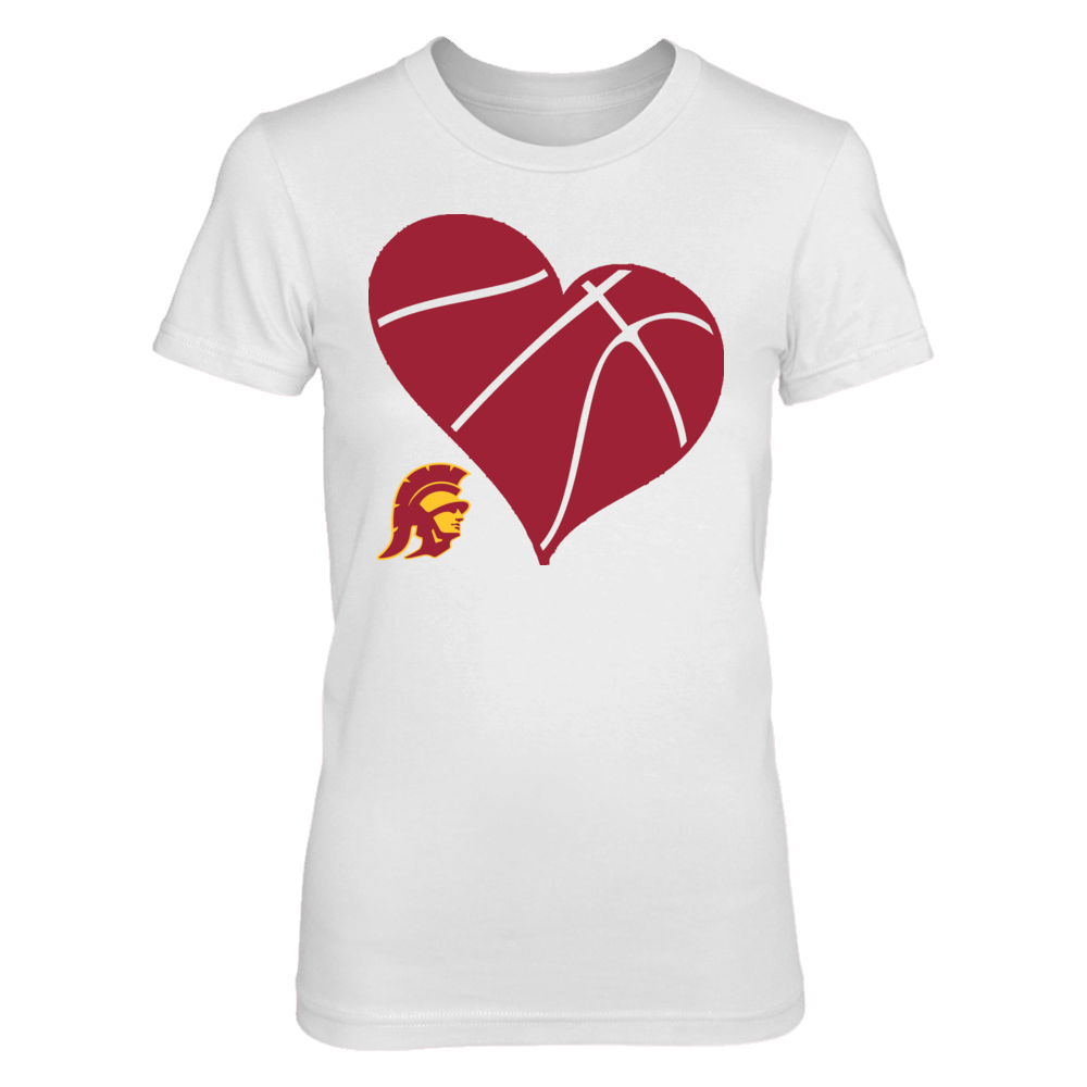 USC Basketball Heart - USC Trojans Front picture