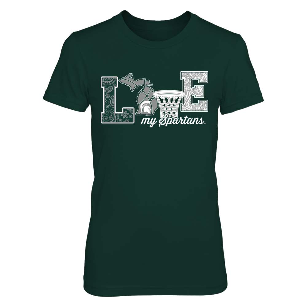 Michigan State Spartans - Love My Team - Basketball  - IF-IC32-DS33 Front picture