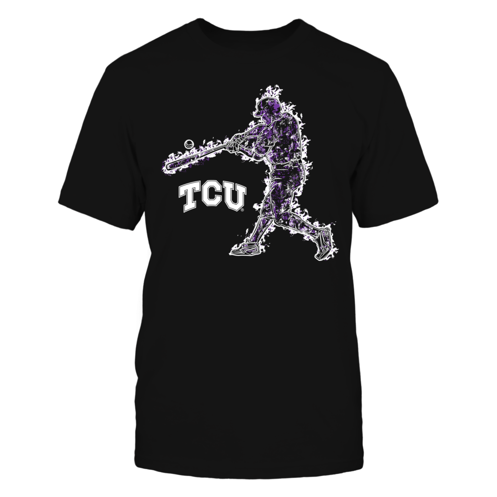 TCU Horned Frogs - Baseball Player On Fire Front picture