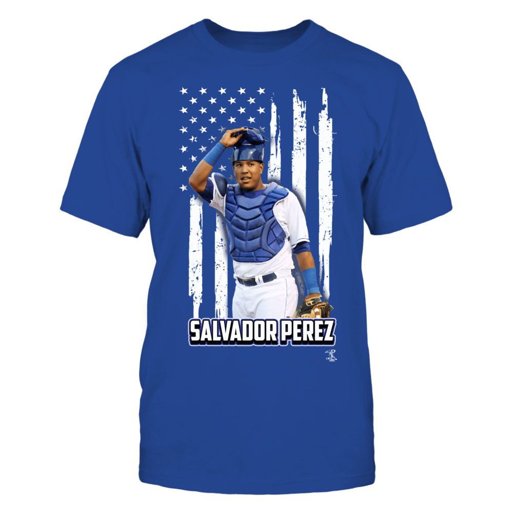Salvador Perez - Player And Nation Flag - Front Front picture