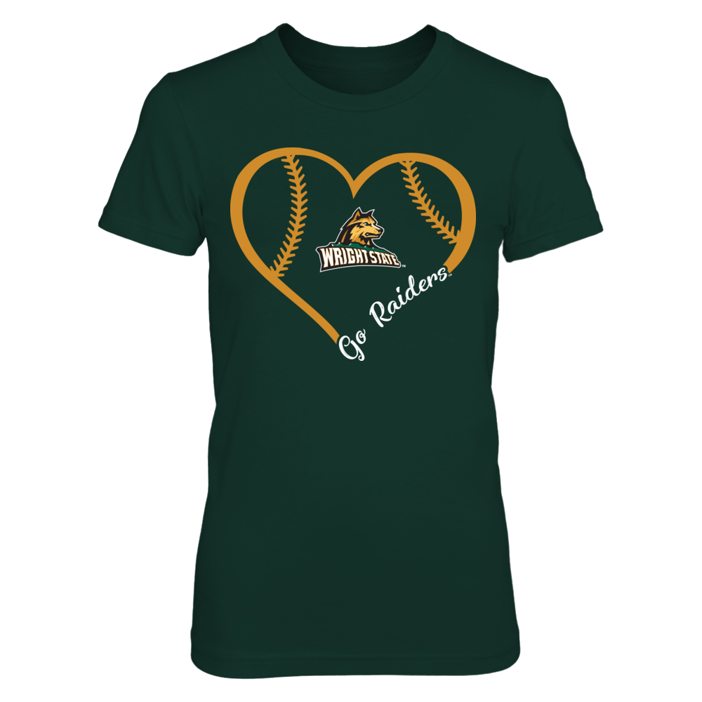 Wright State Raiders - Heart 3/4  - IF-IC32-DS37 Front picture