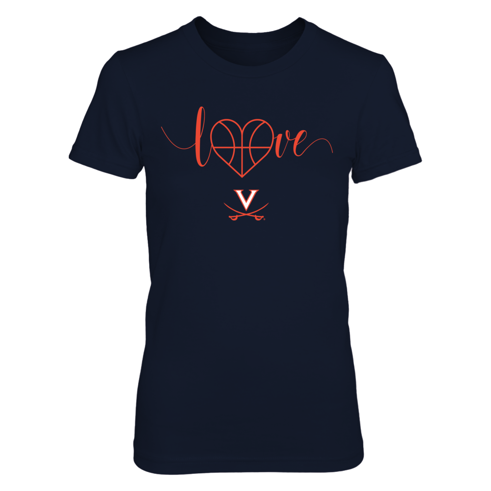 Virginia Cavaliers - Basketball Heart Love Front picture