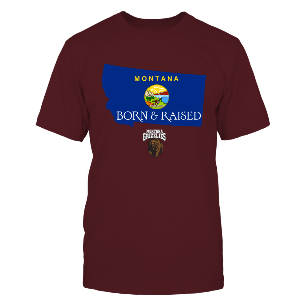 Montana Grizzlies - Born And Raised State Flag Front picture