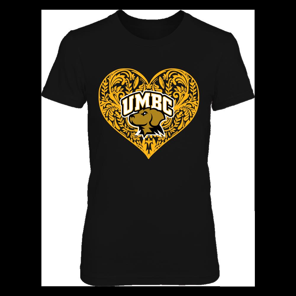 UMBC Retrievers - Pattern Heart - Original Front picture