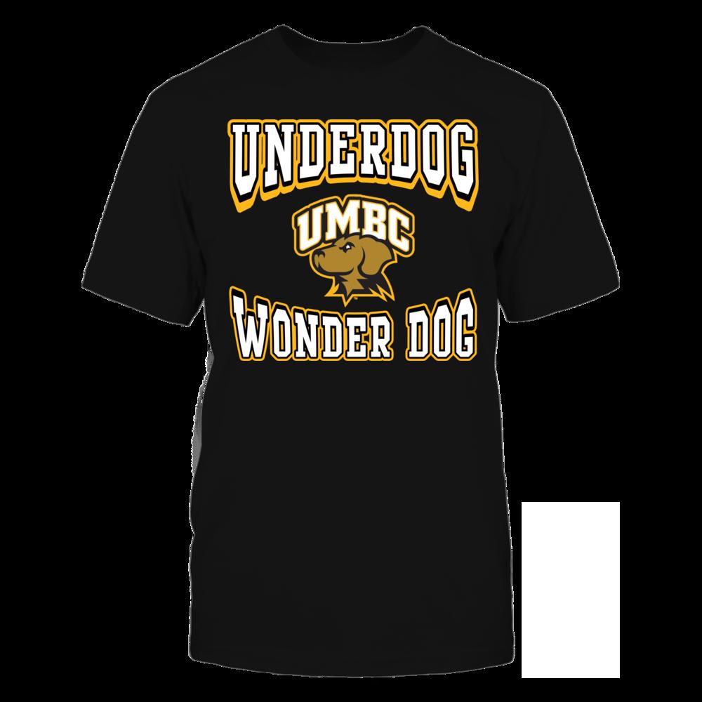 Underdog? No, WONDER DOG - UMBC Retrievers Front picture