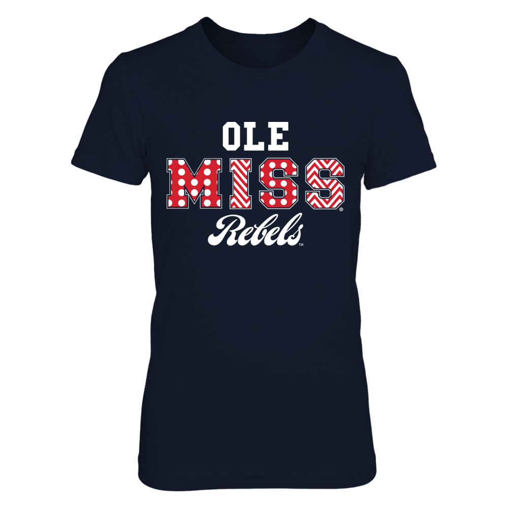 Ole Miss Rebels - Patterned Letters Front picture