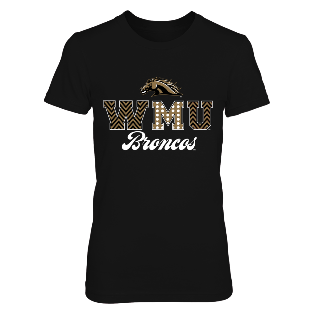 Western Michigan Broncos - Patterned Letters Front picture